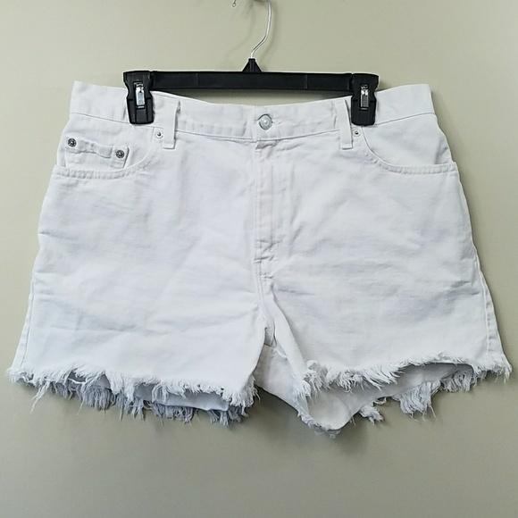 80a6e797e0 Levi's Shorts | Vintage Levis 555 Guys Fit White Cut Off | Poshmark